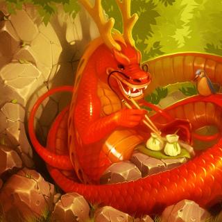 Dragon illustration - Obrázkek zdarma pro iPad 2