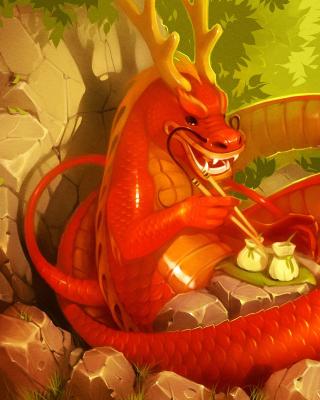 Dragon illustration - Obrázkek zdarma pro Nokia C6-01