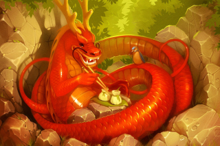 Dragon illustration - Obrázkek zdarma pro Widescreen Desktop PC 1440x900