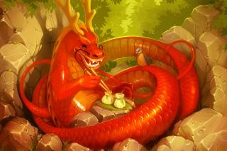 Dragon illustration - Obrázkek zdarma pro Sony Xperia Z