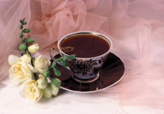 Roses And Coffee Picture for Android, iPhone and iPad
