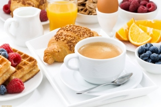 Croissant, waffles and coffee sfondi gratuiti per cellulari Android, iPhone, iPad e desktop