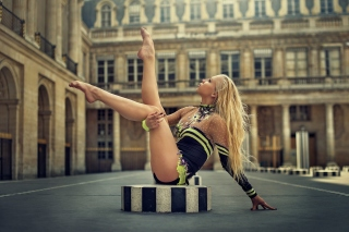 Gymnast Girl in Paris Wallpaper for Android, iPhone and iPad