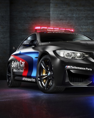 BMW M4 Coupe Police - Obrázkek zdarma pro iPhone 4S