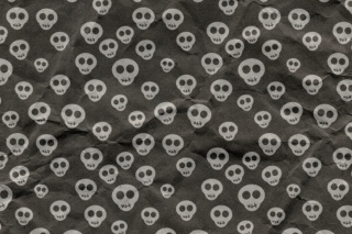 Cute Skulls Wrapping Paper Wallpaper for Android, iPhone and iPad