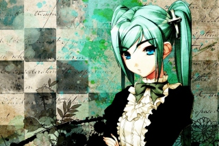 Anime Girl Green Hair Picture for Android, iPhone and iPad