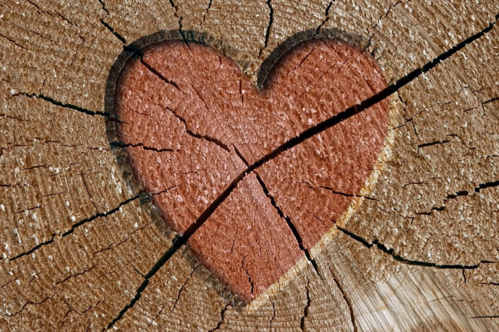 Wooden Heart wallpaper