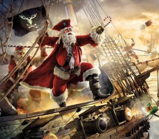 Pirate Santa - Obrázkek zdarma pro iPad