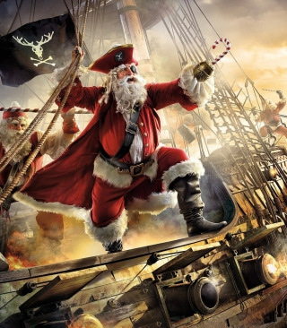 Pirate Santa - Obrázkek zdarma pro Nokia C7
