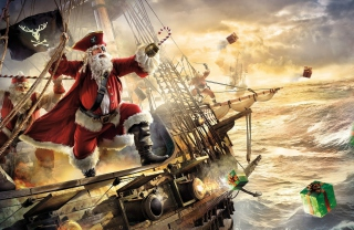 Pirate Santa - Obrázkek zdarma pro 720x320