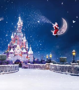 Santa On Moon - Obrázkek zdarma pro 132x176