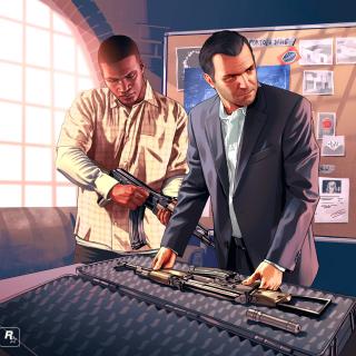 Grand Theft Auto V Mike Franklin - Obrázkek zdarma pro iPad mini
