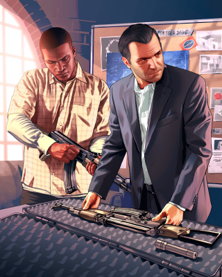 Grand Theft Auto V Mike Franklin - Obrázkek zdarma pro Nokia X2-02