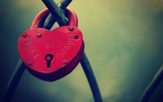 Heart Shaped Lock Background for Android, iPhone and iPad