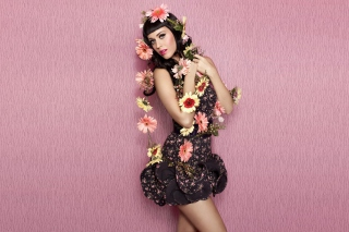 Katy Perry Wearing Flowered Dress Picture for Android, iPhone and iPad