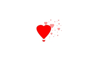 Simple Hearts Illustration Picture for Android, iPhone and iPad