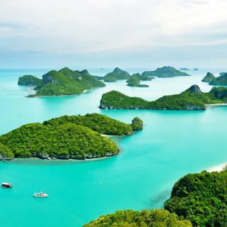 Mu Ko Ang Thong National Park in Thailand - Obrázkek zdarma pro iPad 2