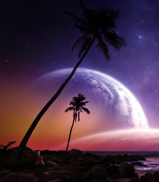 Space Island - Obrázkek zdarma pro iPhone 4
