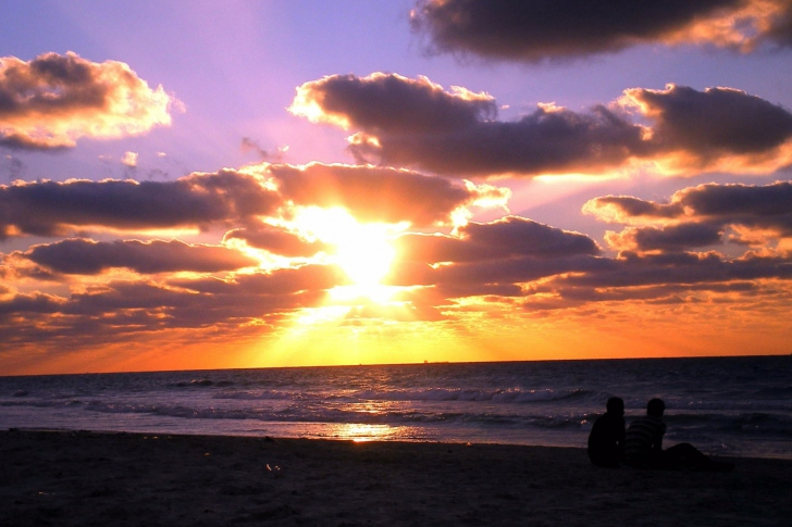 Sunset On The Beach wallpaper