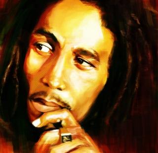 Bob Marley Painting - Obrázkek zdarma pro 1024x1024