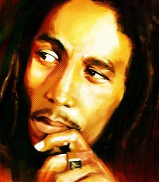 Bob Marley Painting - Obrázkek zdarma pro Nokia Asha 308