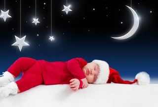 Santa Baby Wallpaper for Android, iPhone and iPad