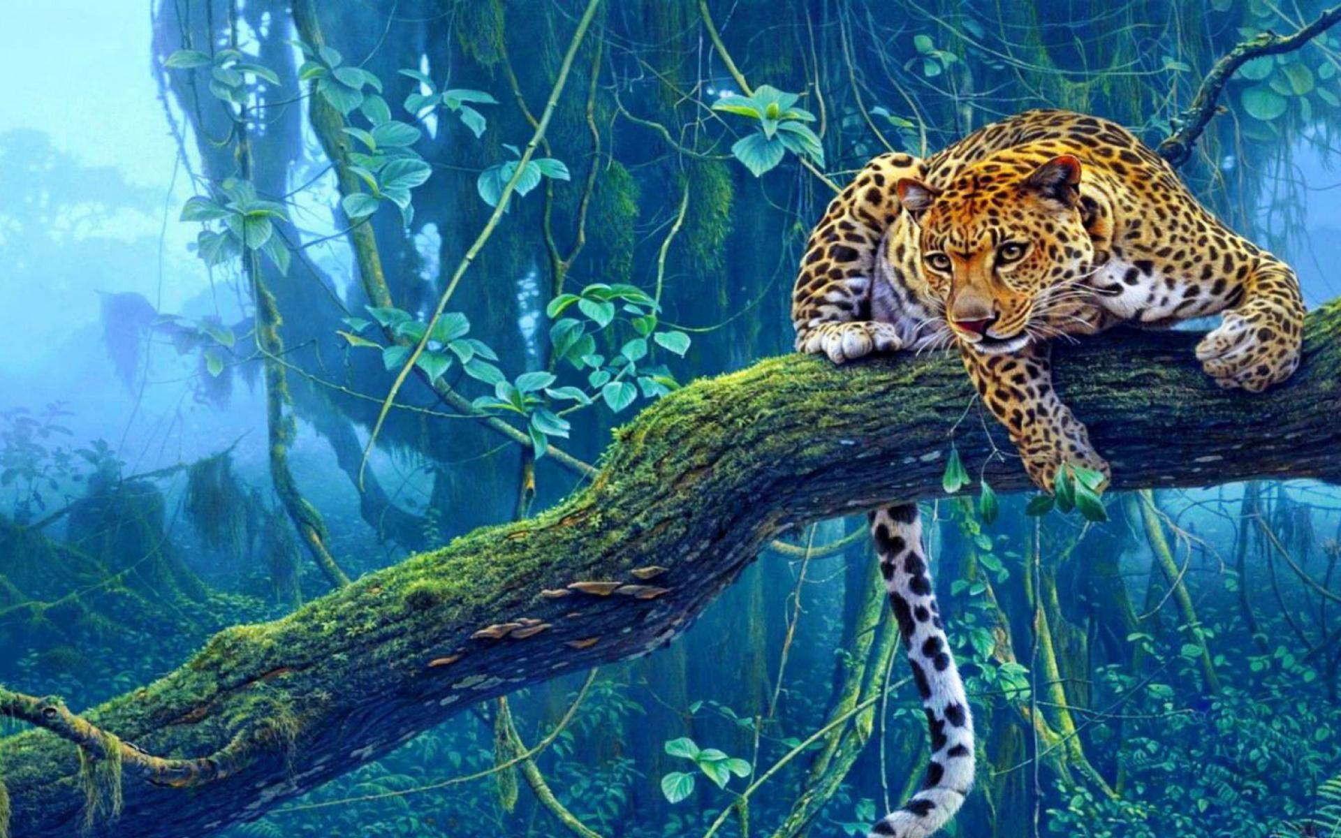 jungle tiger painting fondos de pantalla gratis para