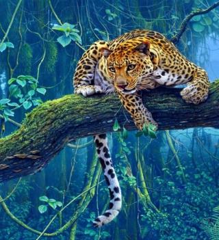 Jungle Tiger Painting - Obrázkek zdarma pro 320x320