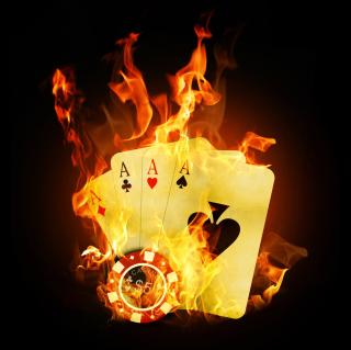 Fire Cards In Casino - Obrázkek zdarma pro iPad
