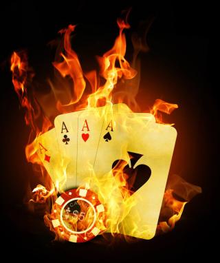 Fire Cards In Casino - Obrázkek zdarma pro Nokia X3-02
