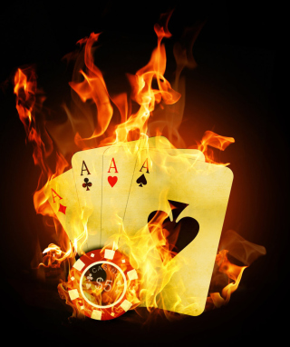 Fire Cards In Casino - Obrázkek zdarma pro Nokia Asha 300