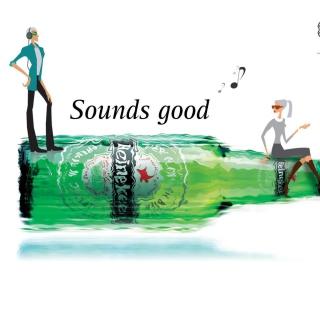 Heineken, Sounds good - Obrázkek zdarma pro iPad