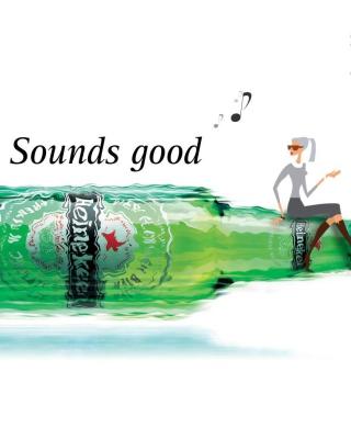 Heineken, Sounds good - Obrázkek zdarma pro 640x960