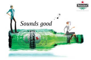 Heineken, Sounds good - Obrázkek zdarma pro Widescreen Desktop PC 1920x1080 Full HD