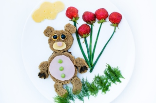 Free Happy Breakfast Bear Picture for Android, iPhone and iPad