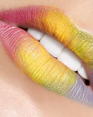Rainbow Lips - Obrázkek zdarma pro 352x416