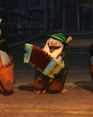 Skipper, Kowalski, and Rico, Penguins of Madagascar - Obrázkek zdarma pro iPhone 4