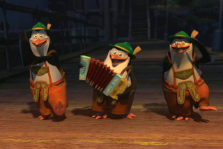 Skipper, Kowalski, and Rico, Penguins of Madagascar - Obrázkek zdarma pro Desktop Netbook 1366x768 HD