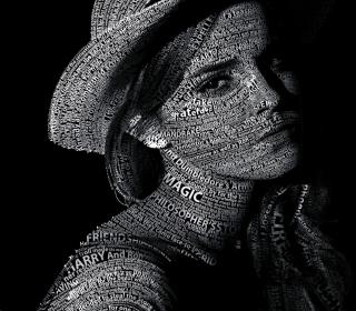 Emma Watson Typography - Obrázkek zdarma pro 320x320