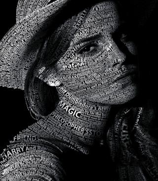 Emma Watson Typography - Obrázkek zdarma pro iPhone 6 Plus