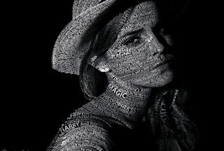 Emma Watson Typography - Obrázkek zdarma pro Desktop Netbook 1366x768 HD