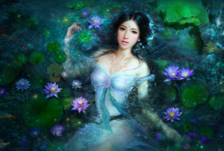 Princess Of Water Lilies Wallpaper for Android, iPhone and iPad
