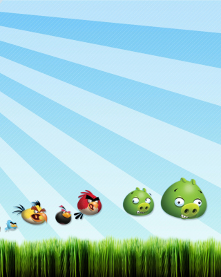 Angry Birds Bad Pigs - Obrázkek zdarma pro Nokia Asha 306