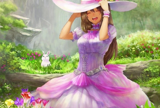 Free Beautiful Day - Anime Girl Picture for Android, iPhone and iPad