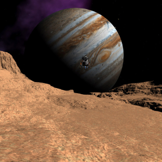 Callisto moon of Jupiter - Obrázkek zdarma pro 128x128