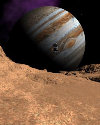Callisto moon of Jupiter - Obrázkek zdarma pro Nokia C3-01 Gold Edition