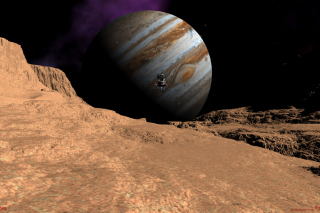 Callisto moon of Jupiter Background for Android, iPhone and iPad