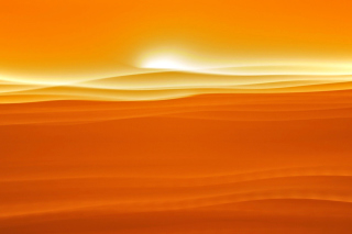 Orange Sky and Desert Picture for Android, iPhone and iPad