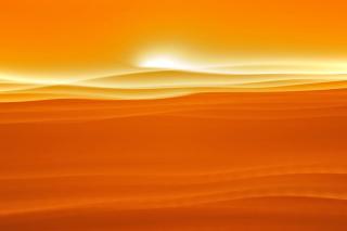 Orange Sky and Desert - Obrázkek zdarma pro HTC One