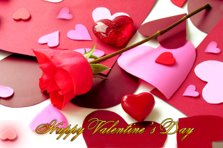 Happy Valentines Background for Nokia Asha 200